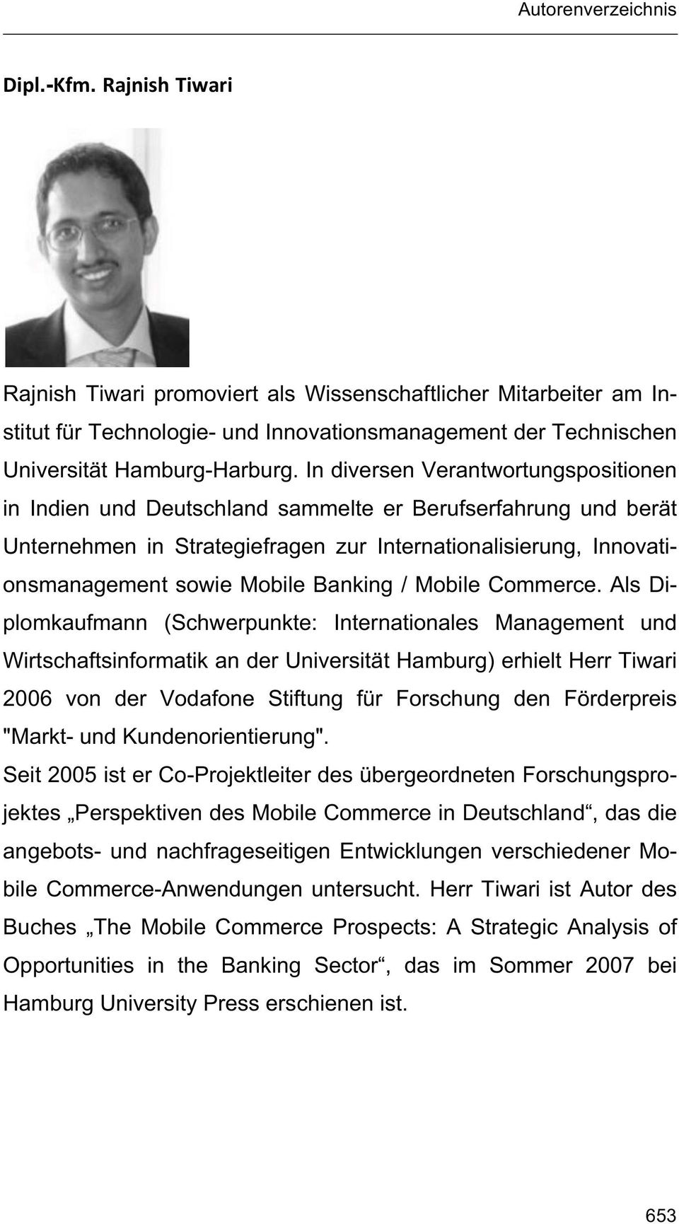 Banking / Mobile Commerce.