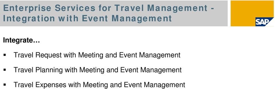 Meeting and Event Management Travel Planning with Meeting
