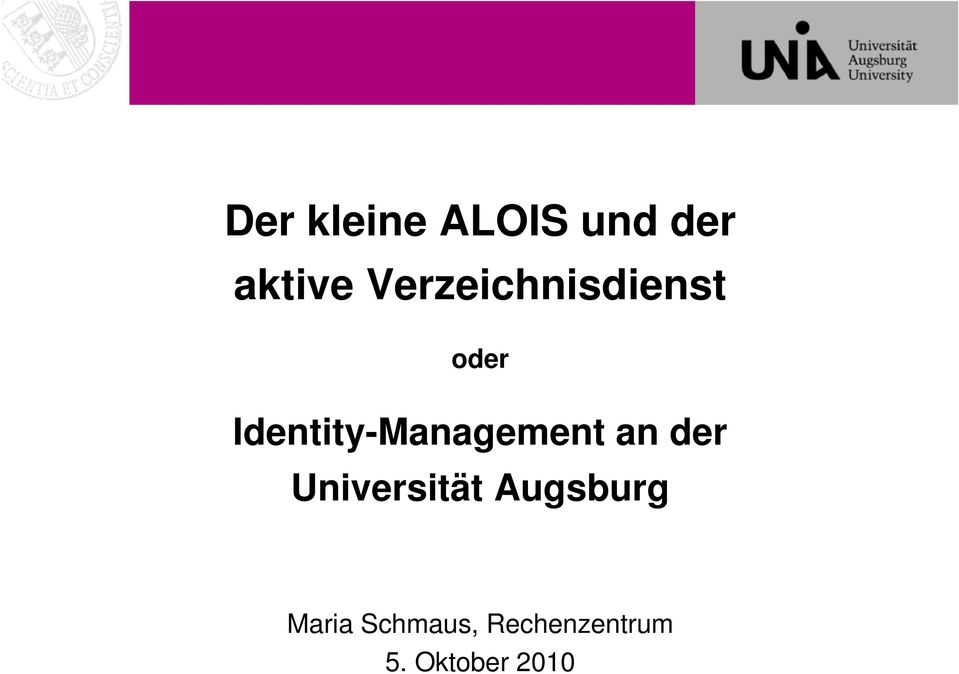 Identity-Management an der