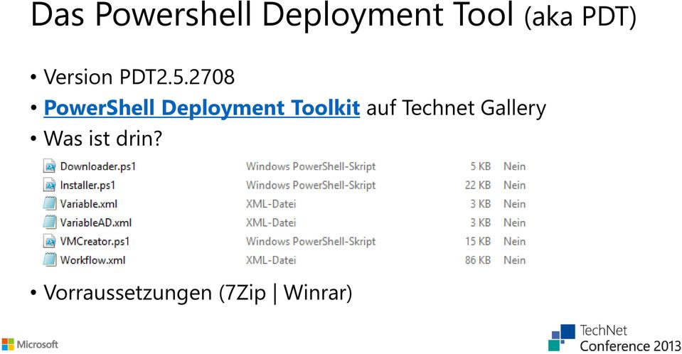 2708 PowerShell Deployment Toolkit auf