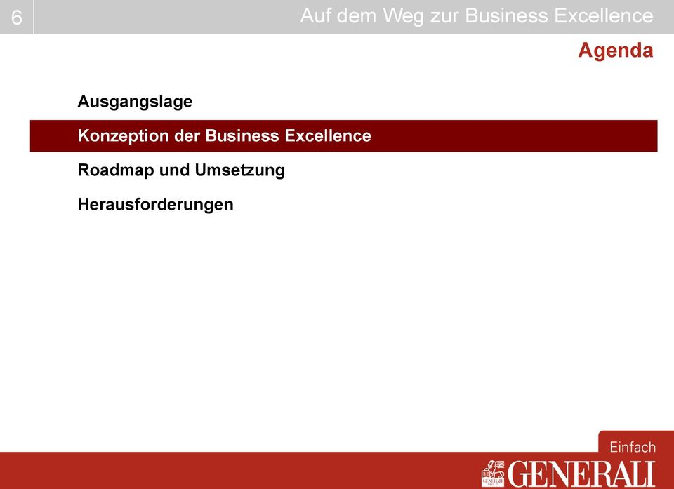 Excellence Roadmap und
