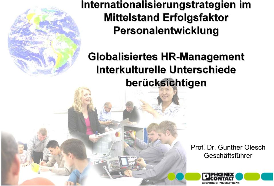 HR-Management Interkulturelle Unterschiede