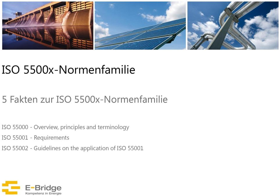 principles and terminology ISO 55001 -