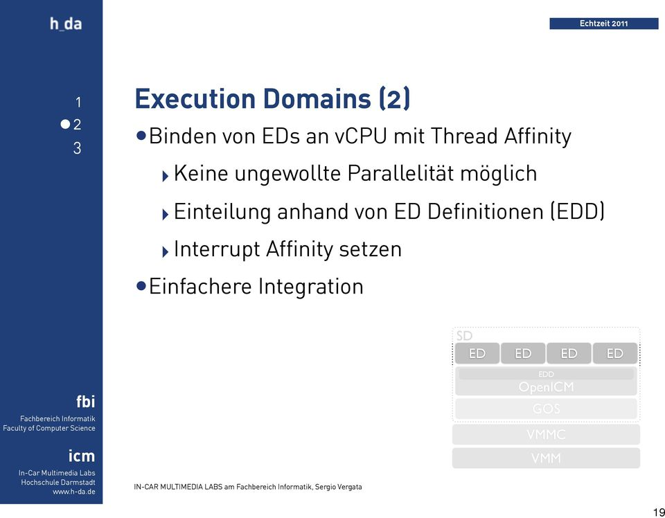 Definitionen (EDD) Interrupt Affinity setzen Einfachere Integration