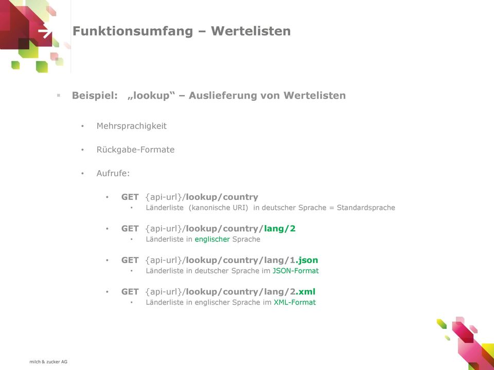{api-url}/lookup/country/lang/2 Länderliste in englischer Sprache GET {api-url}/lookup/country/lang/1.
