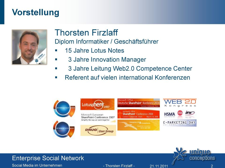Innovation Manager 3 Jahre Leitung Web2.