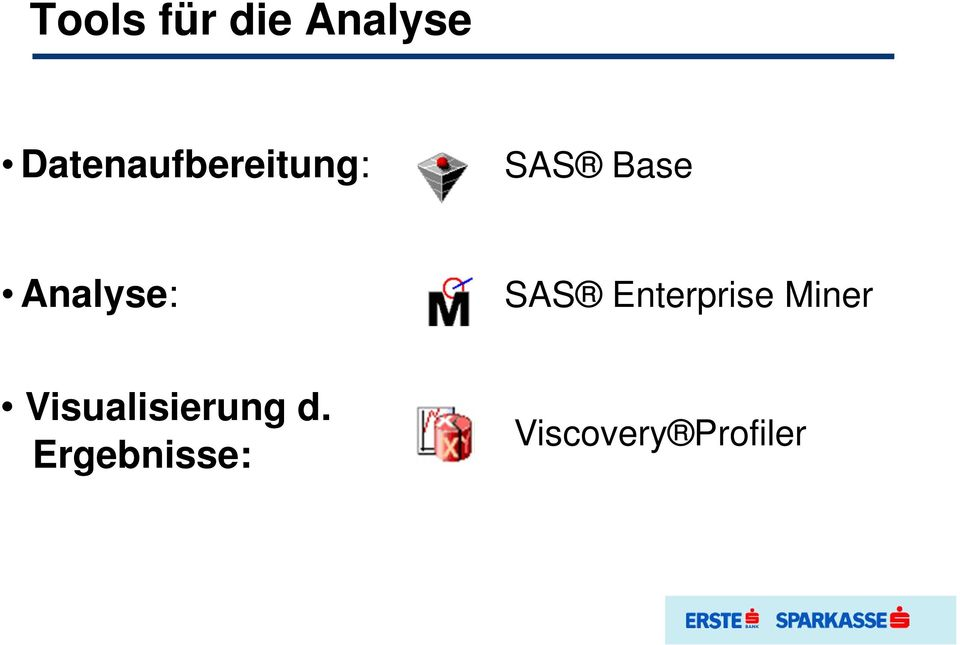 Analyse: SAS Enterprise Miner