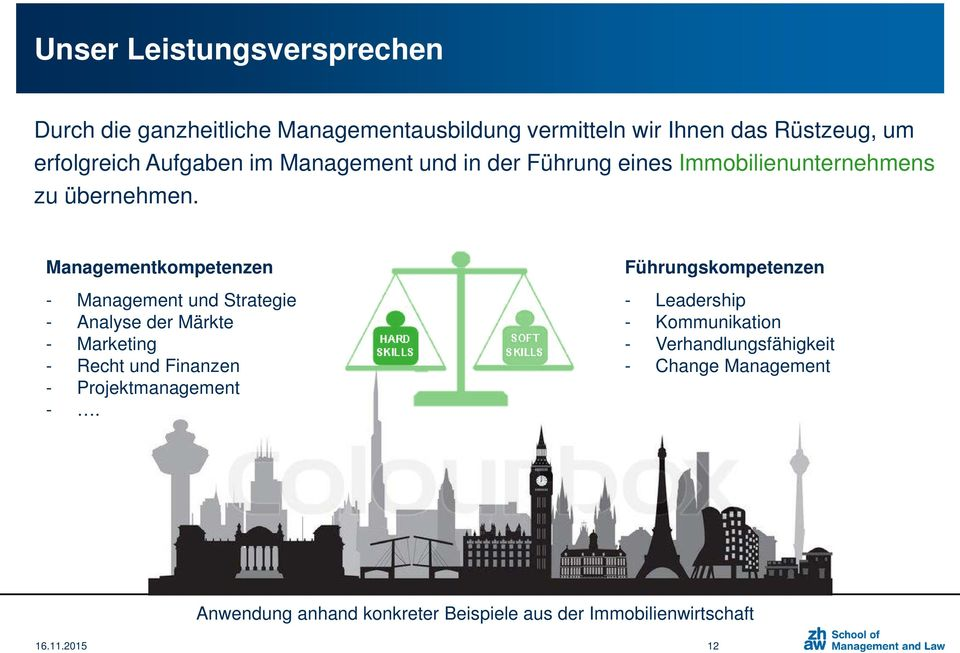 Managementkompetenzen - Management und Strategie - Analyse der Märkte - Marketing - Recht und Finanzen - Projektmanagement -.