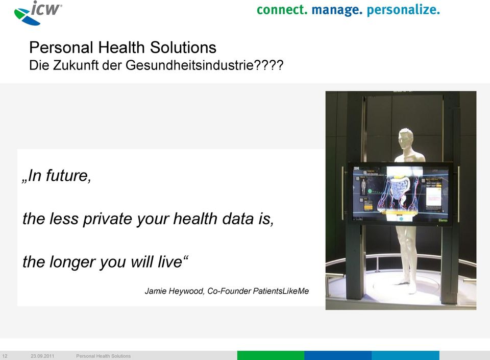health data is, the longer you will