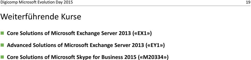 Solutions of Microsoft Exchange Server 2013