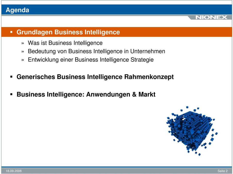 Entwicklung einer Business Intelligence Strategie Generisches Business