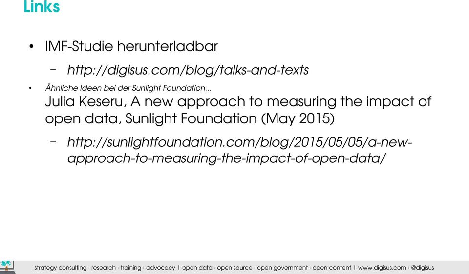 .. Julia Keseru, A new approach to measuring the impact of open data, Sunlight