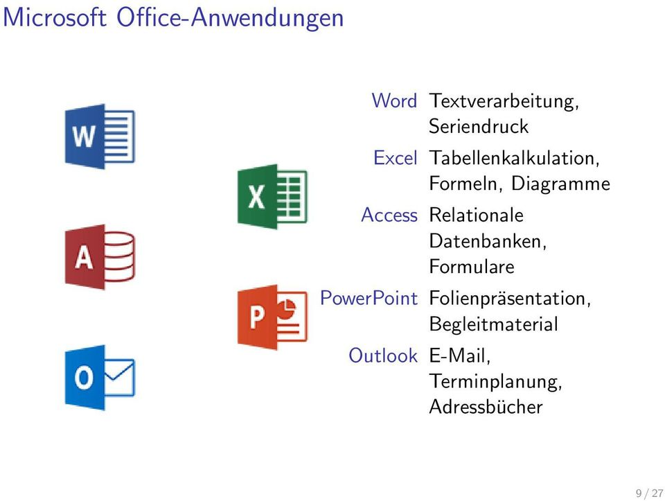 Access Relationale Datenbanken, Formulare PowerPoint