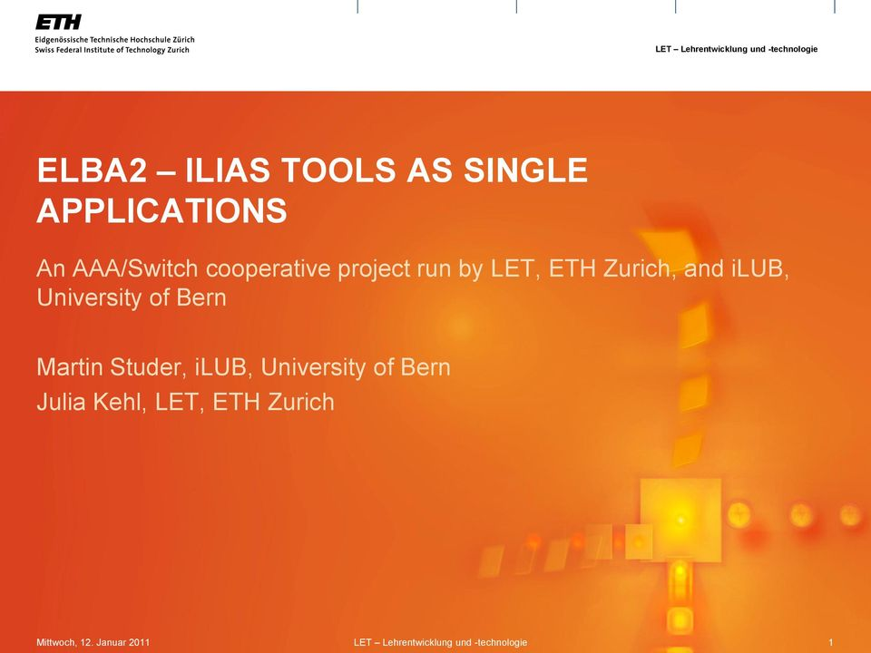 Zurich, and ilub, University of Bern Martin