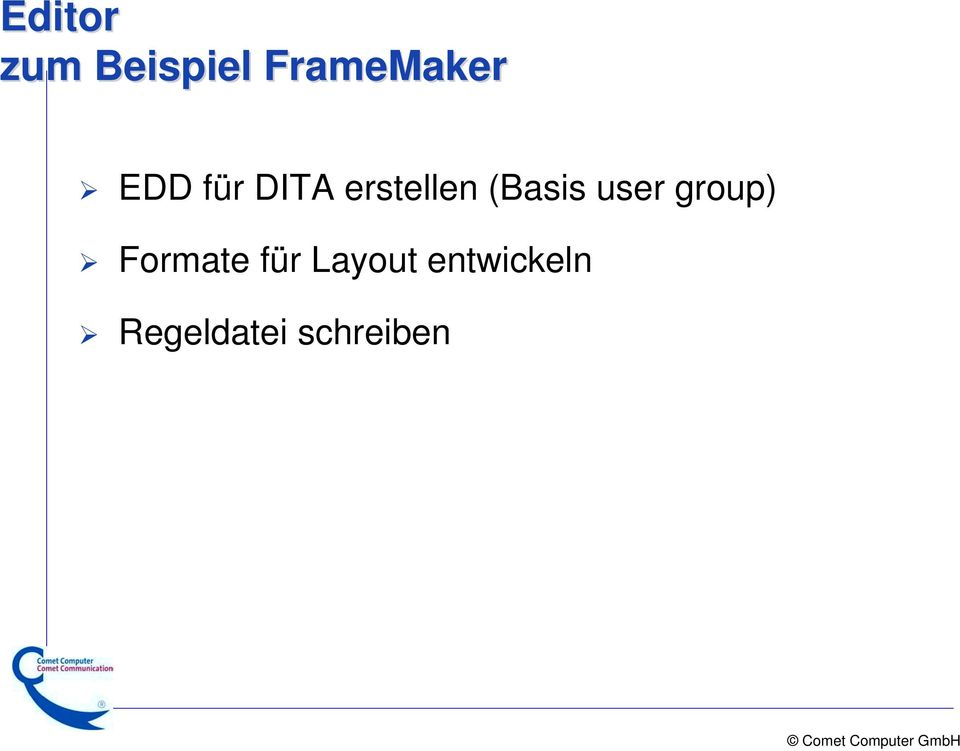 user group) Formate für Layout