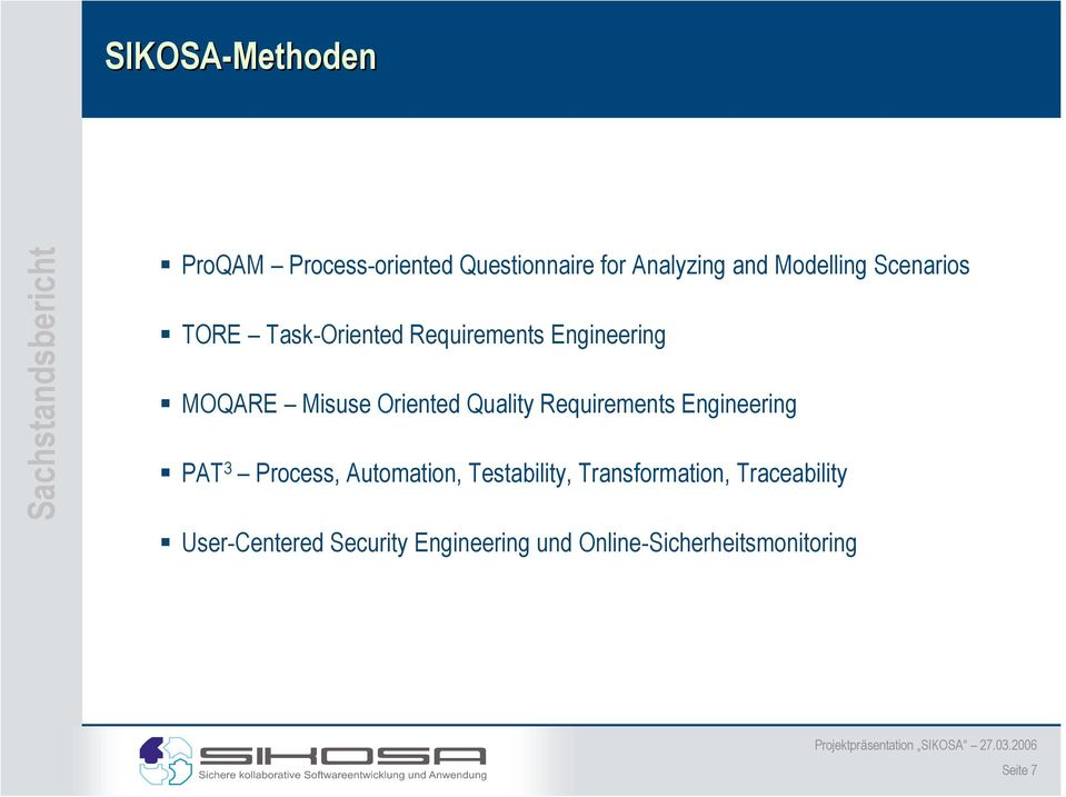 Quality Requirements Engineering PAT 3 Process, Automation, Testability,
