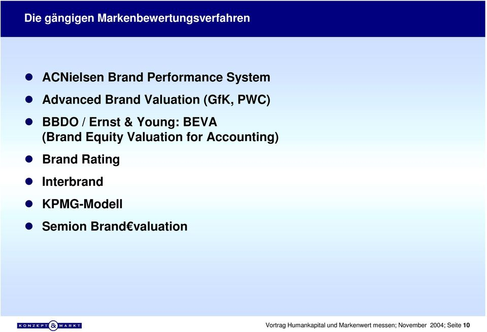BBDO / Ernst & Young: BEVA (Brand Equity Valuation for Accounting)!