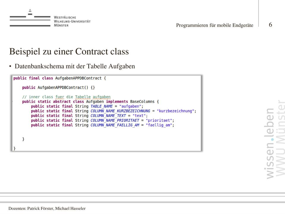einer Contract class