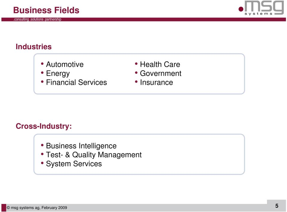 Cross-Industry: Business Intelligence Test- &