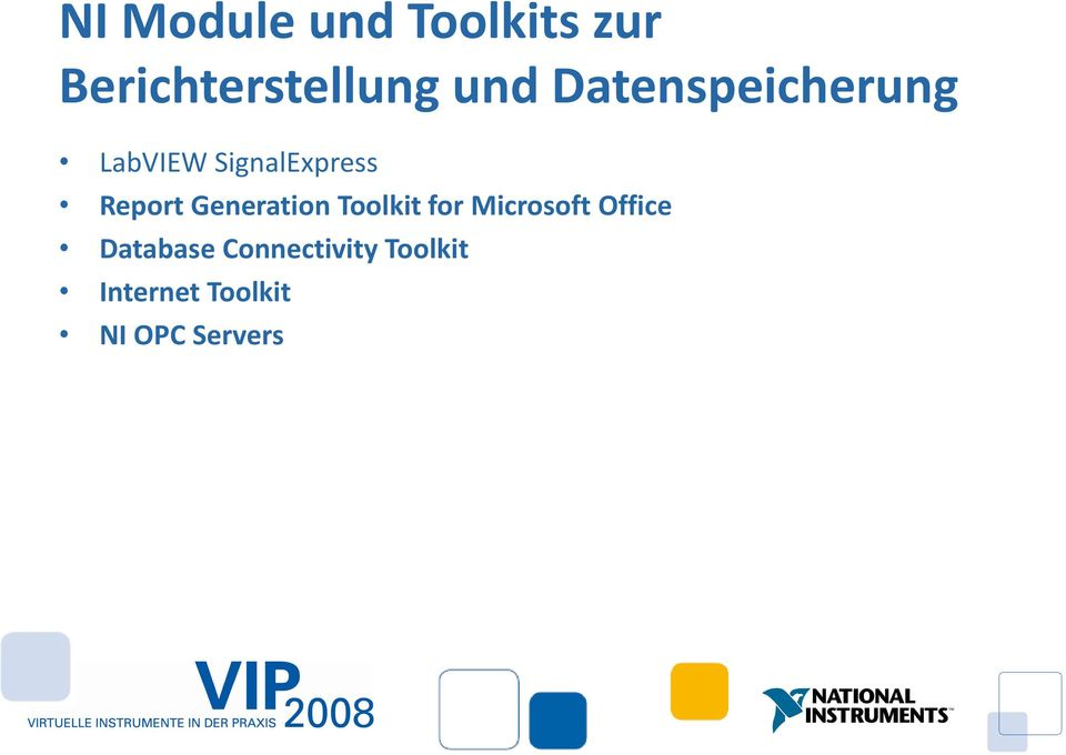 Generation Toolkit for Microsoft Office Database
