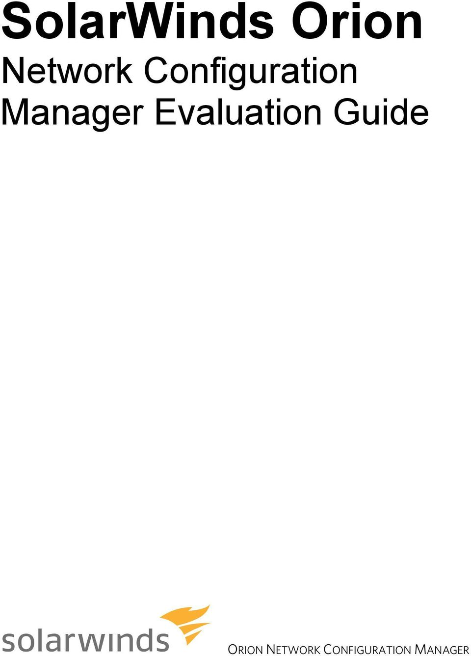Evaluation Guide ORION