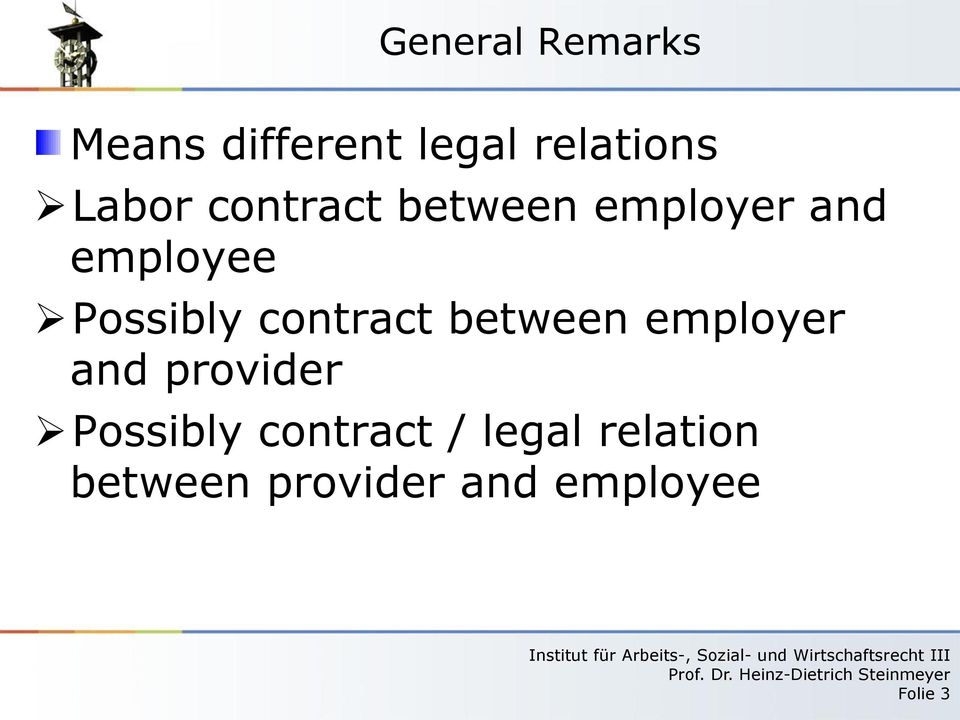 contract between employer and provider Possibly