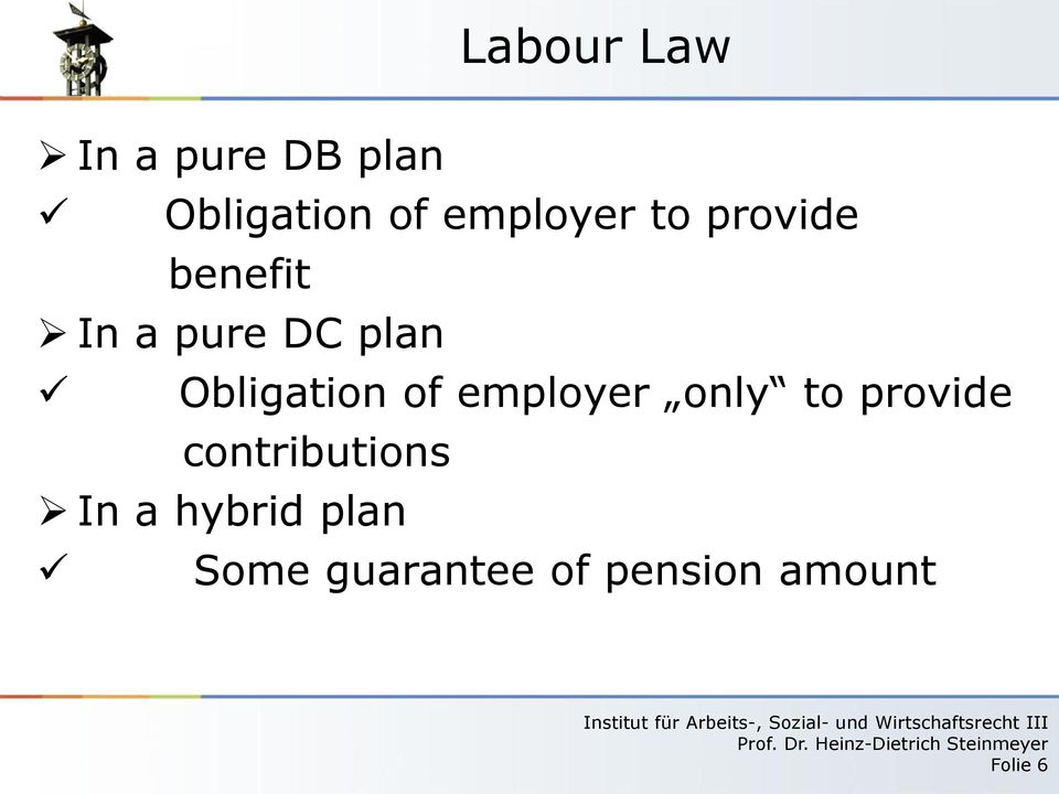 Obligation of employer only to provide