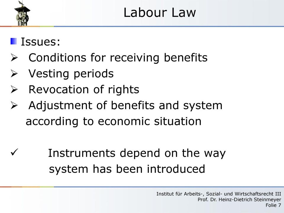 benefits and system according to economic situation