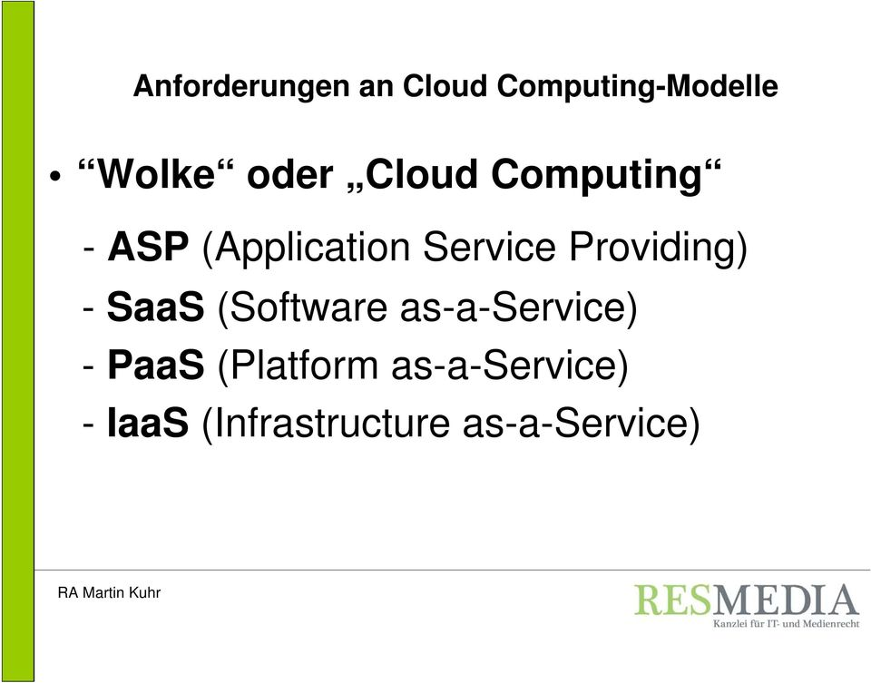 (Software as-a-service) - PaaS (Platform