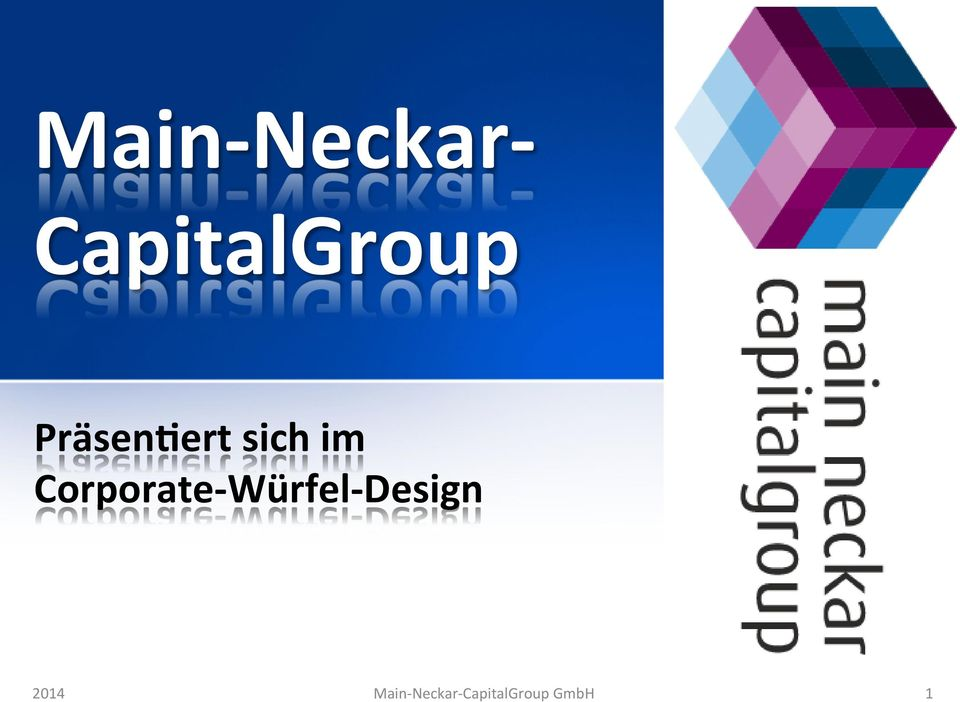 Corporate- Würfel- Design