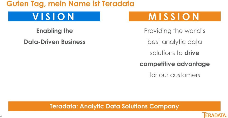 best analytic data solutions to drive competitive advantage