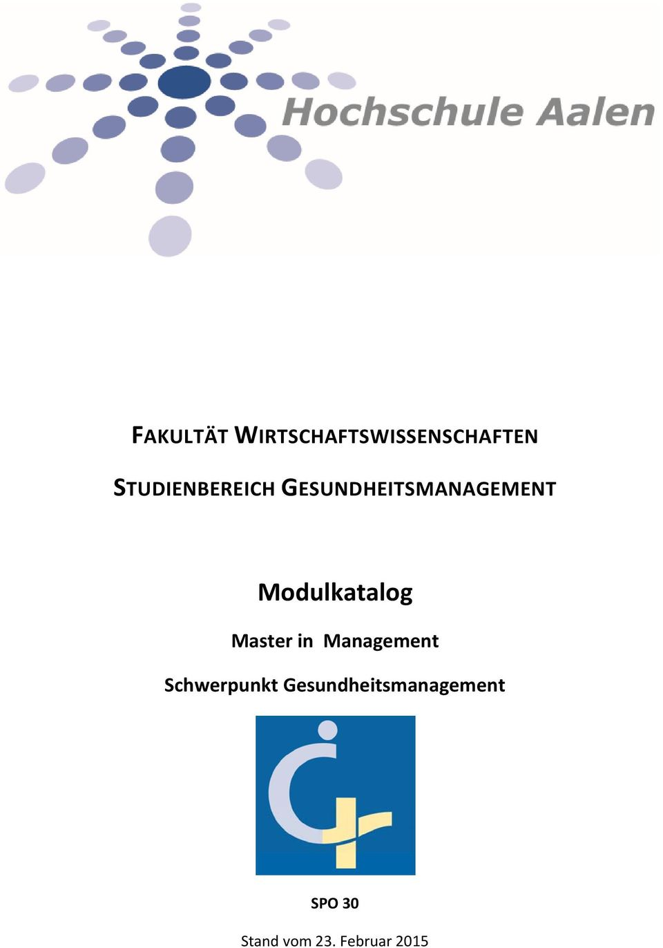 Modulkatalog Master in Management