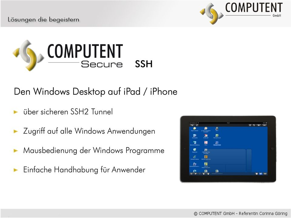 Windows Anwendungen Mausbedienung der
