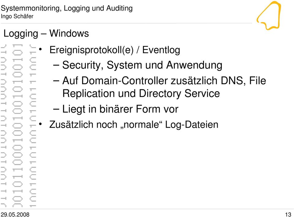DNS, File Replication und Directory Service Liegt in