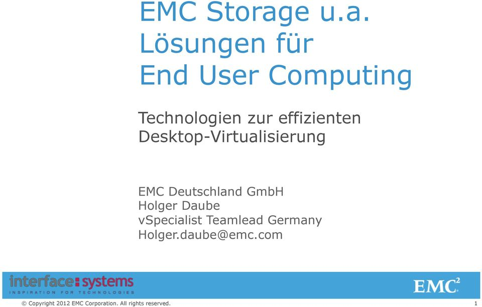 Lösungen für End User Computing Technologien
