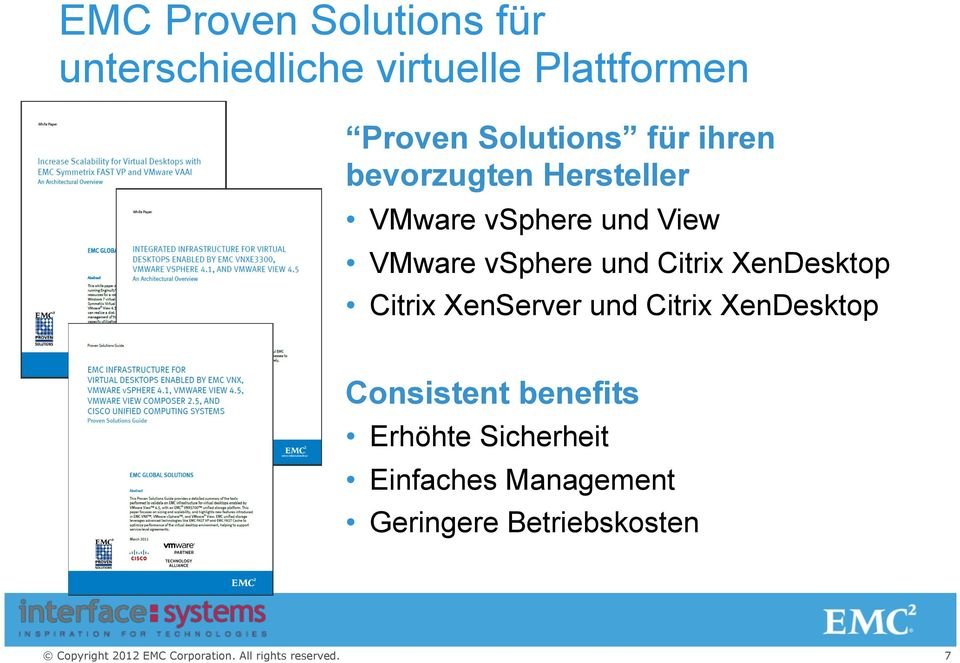vsphere und Citrix XenDesktop Citrix XenServer und Citrix XenDesktop