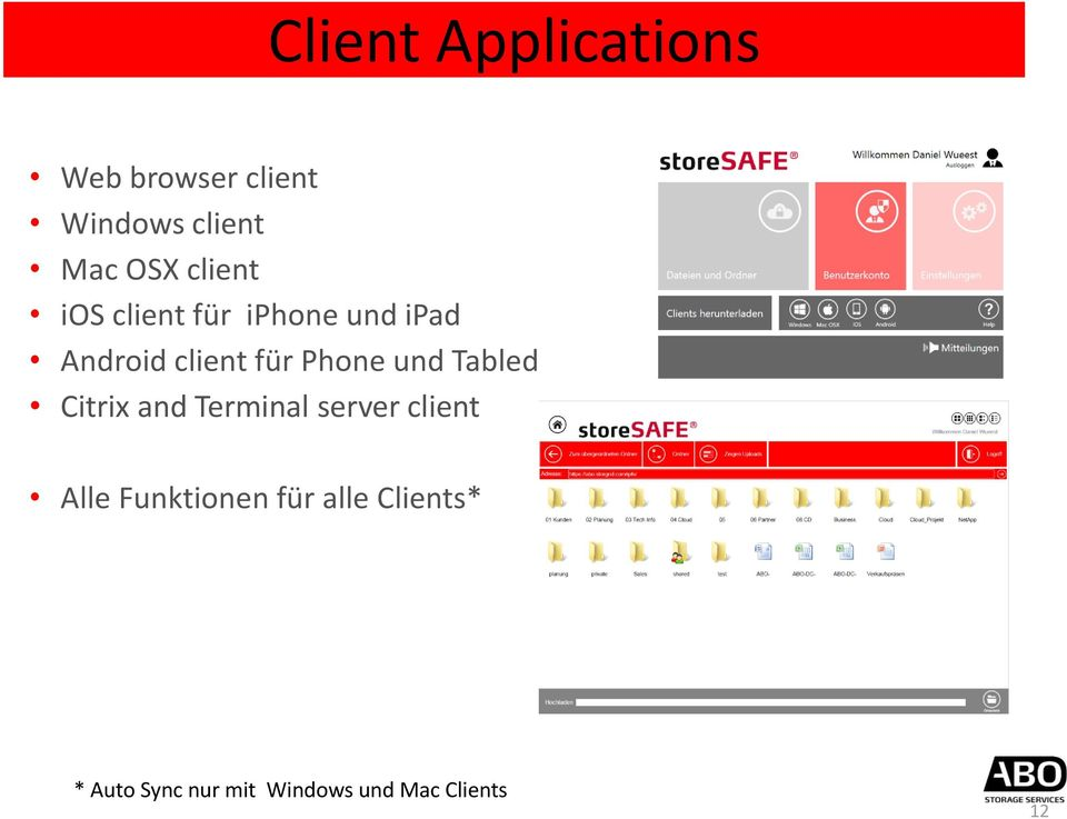 und Tabled Citrix and Terminal server client Alle Funktionen