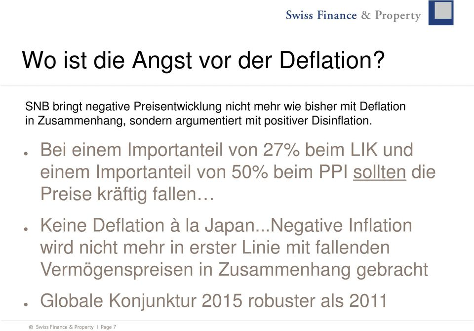 Disinflation.