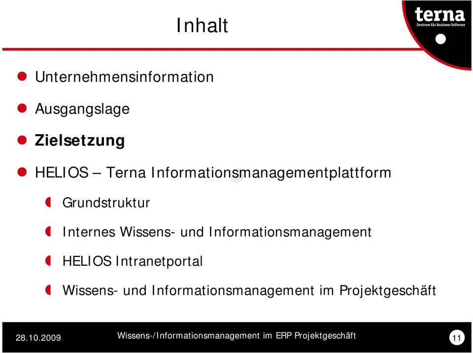 Wissens- und Informationsmanagement HELIOS Intranetportal