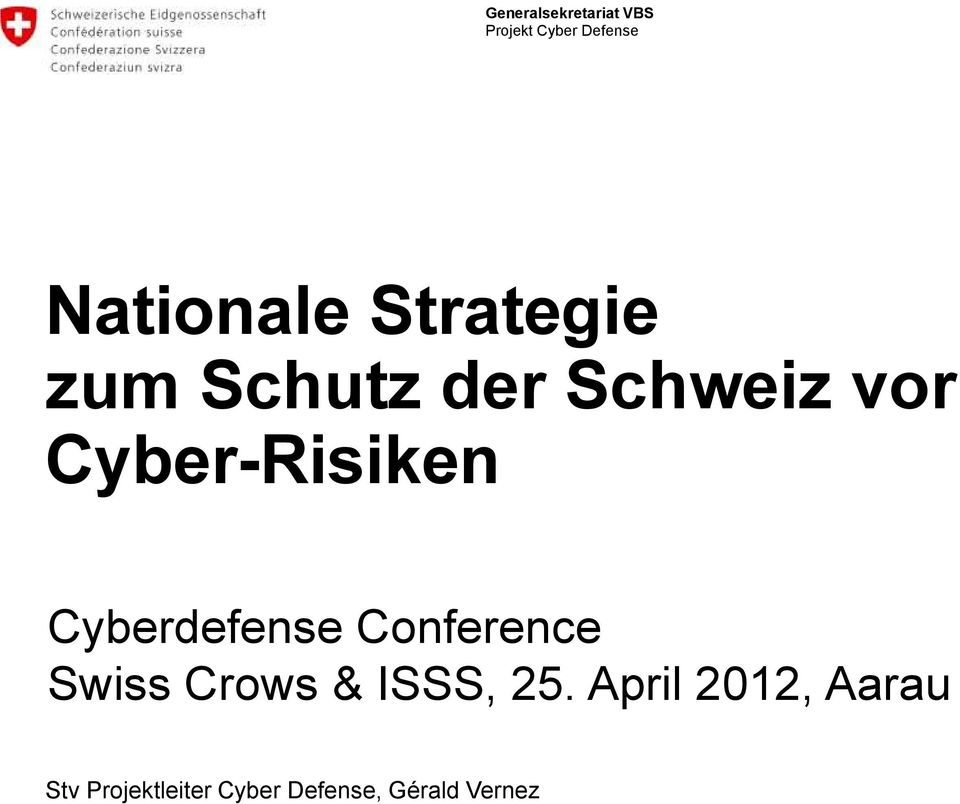 Cyber-Risiken Cyberdefense Conference