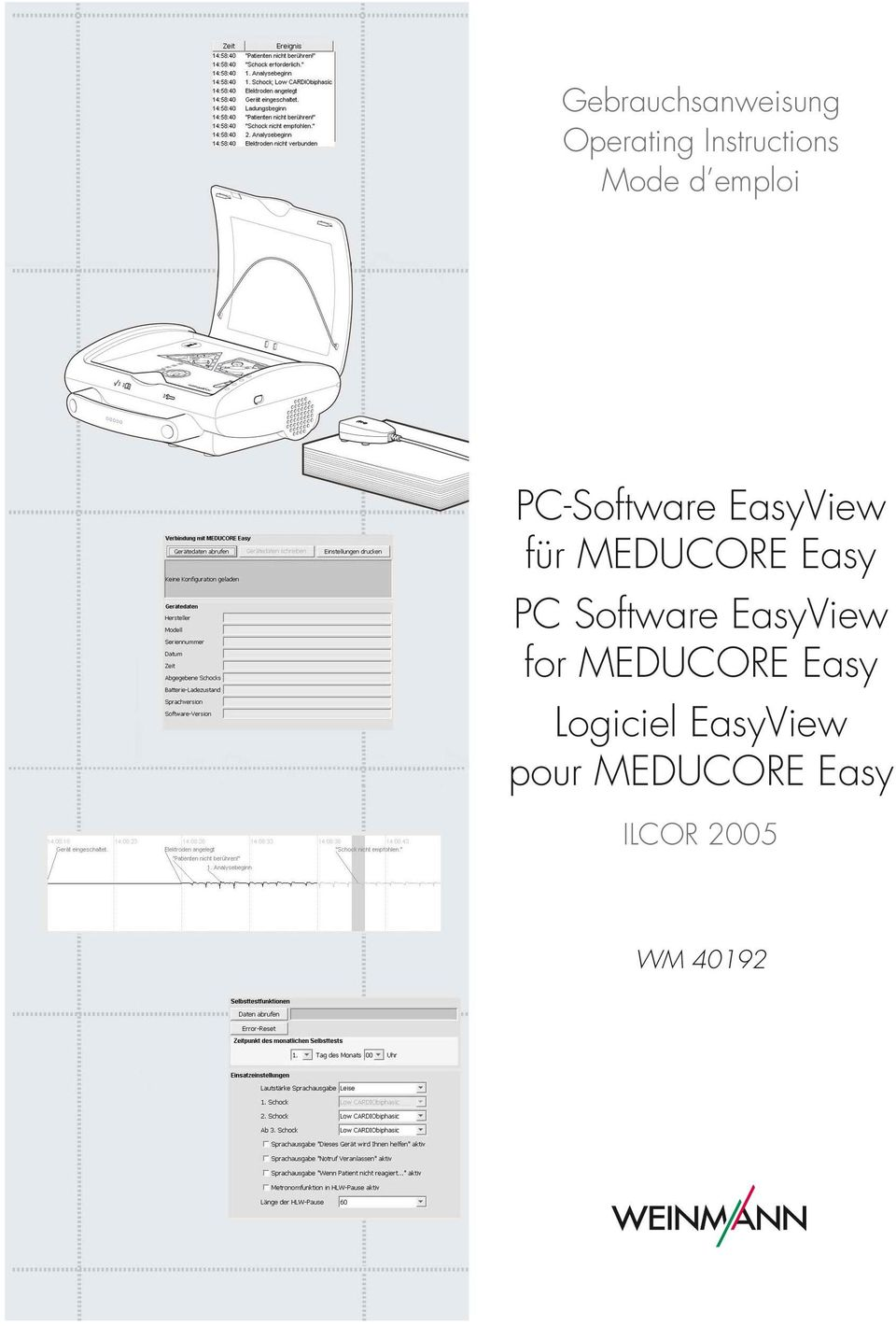 PC Software EasyView for MEDUCORE Easy Logiciel
