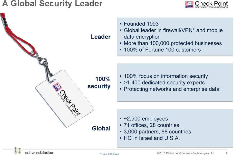 information security >1,400 dedicated security experts Protecting networks and enterprise data Global