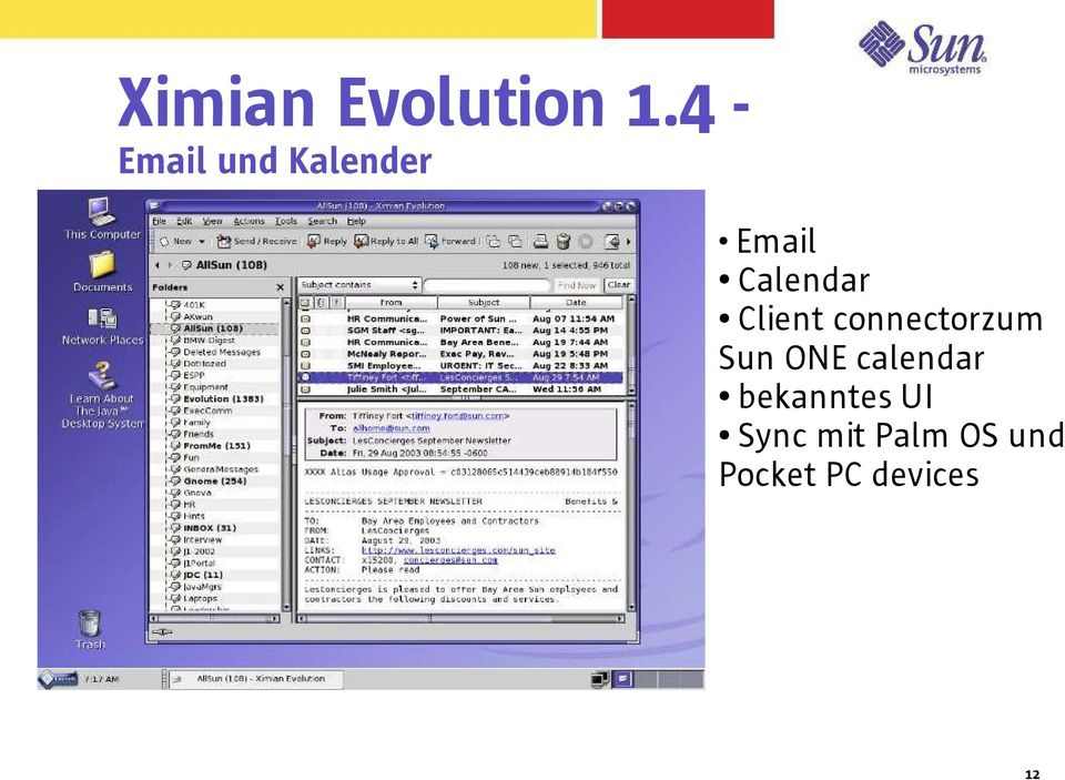Client connectorzum Sun ONE calendar