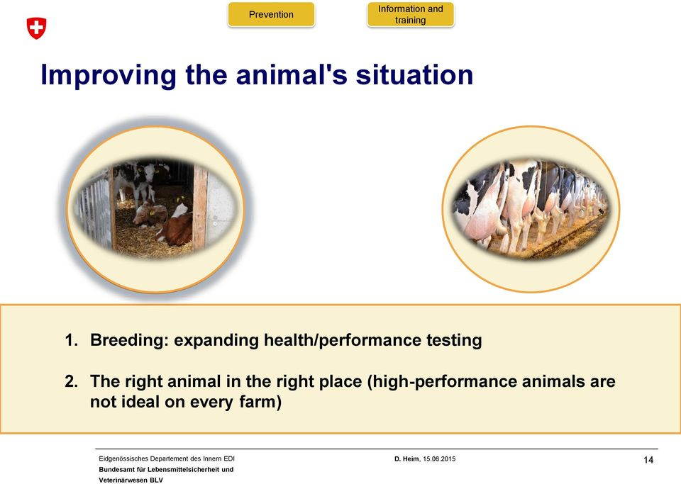 Breeding: expanding health/performance testing 2.