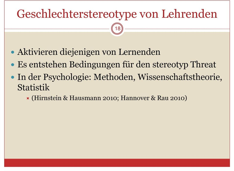 stereotyp Threat In der Psychologie: Methoden,