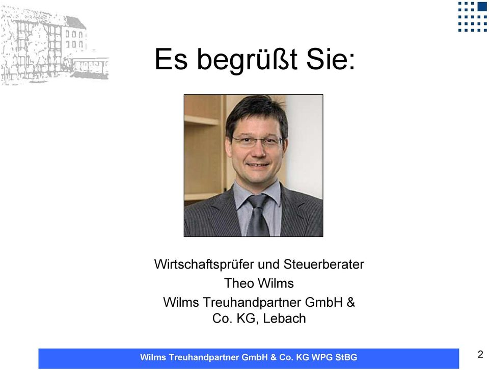 Steuerberater Theo Wilms