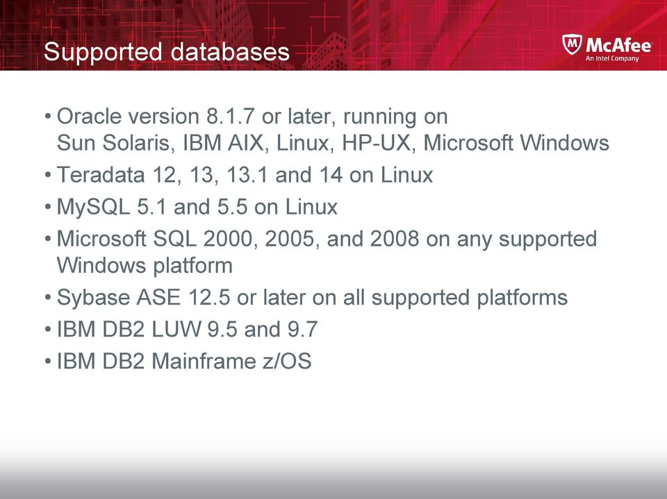12, 13, 13.1 and 14 on Linux MySQL 5.1 and 5.