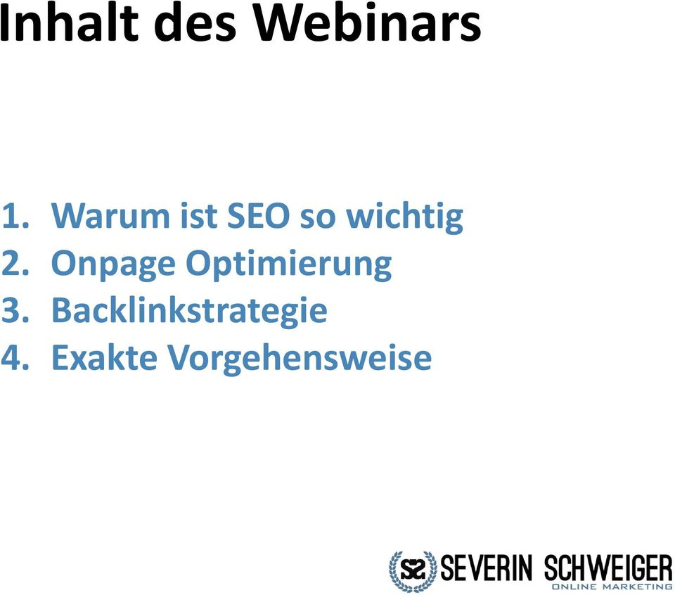 Onpage Optimierung 3.