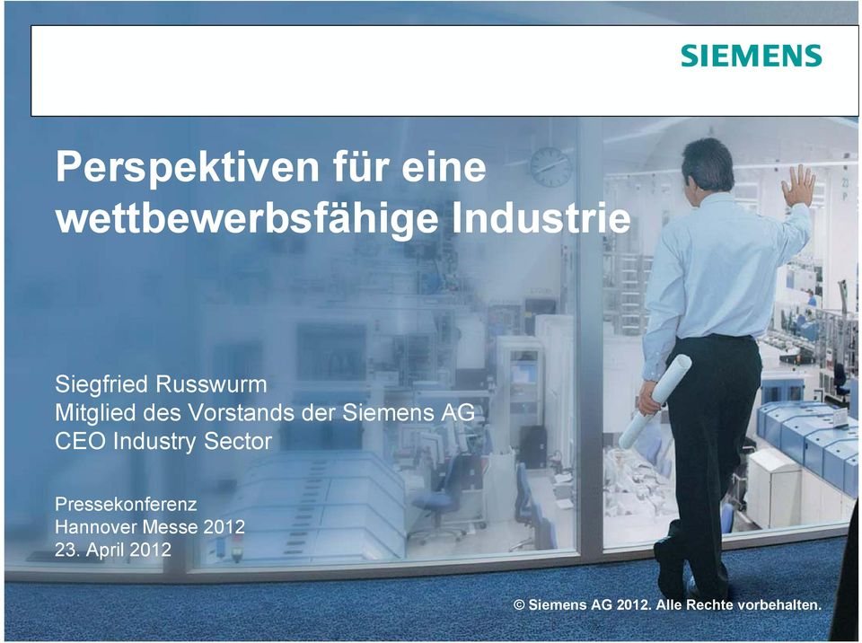 Siemens AG CEO Industry Sector
