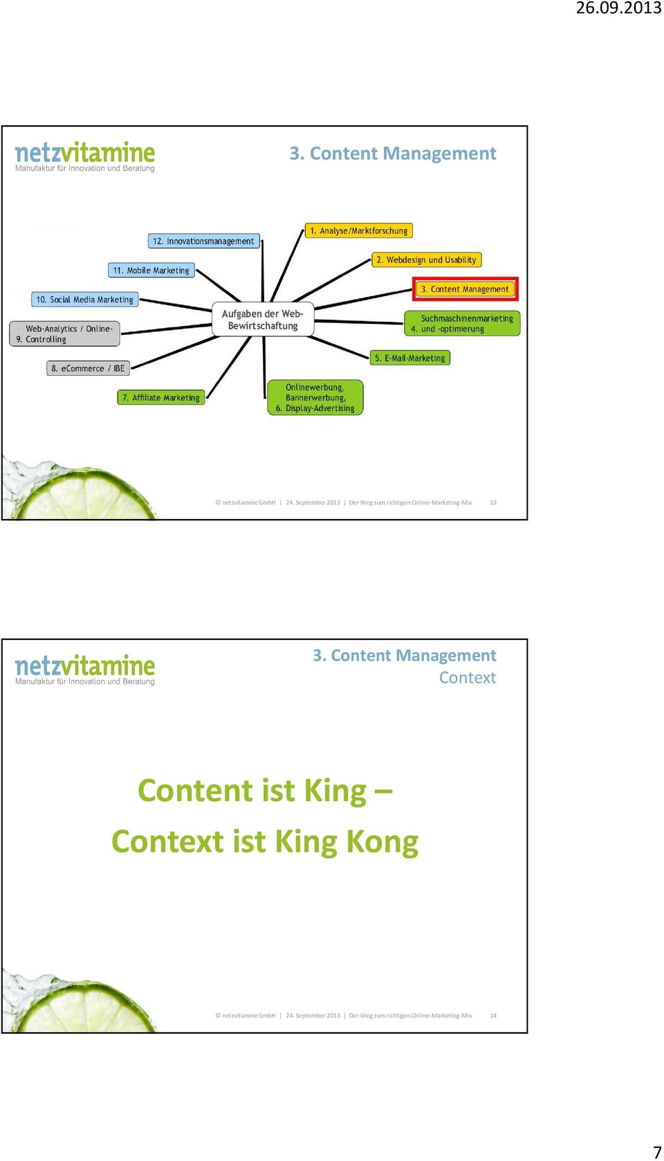 Context Content ist King